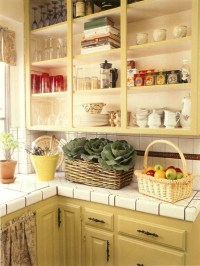 Open Kitchen Shelves & Cabinets