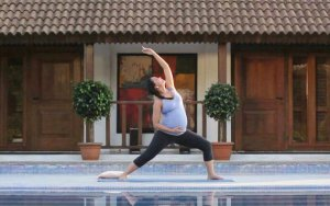 Lara Dutta Prenatal Yoga Video