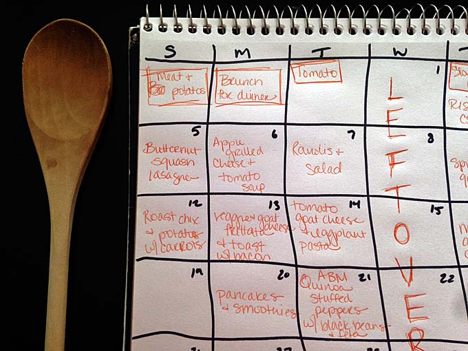 Maggie's October Meal Plan