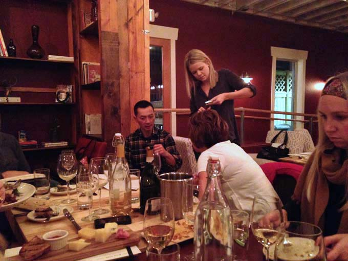 Learning How to Open and Pour Wine at Braise Culinary School