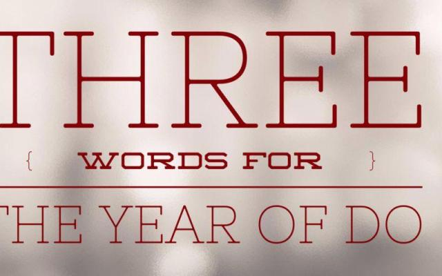 Three Words for 2015