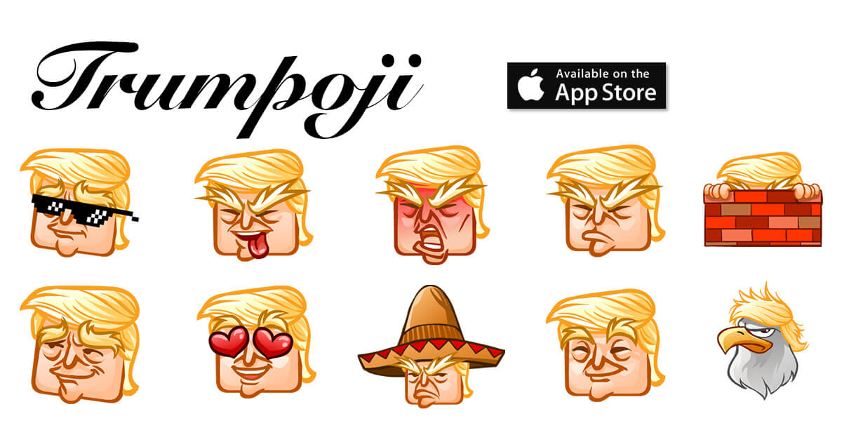 TRUMPOJI - 2017 PRESIDENTIAL KEYBOARD - MAKE EMOJIS GREAT AGAIN - emoji story copy and paste