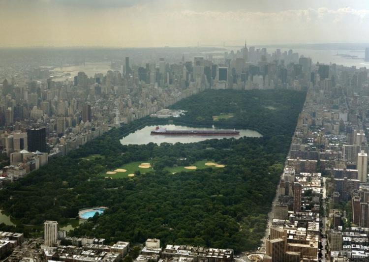 pétrolier central park new york taille seawise giant