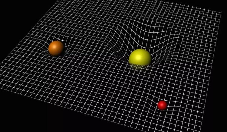courbure espace temps masse relativité