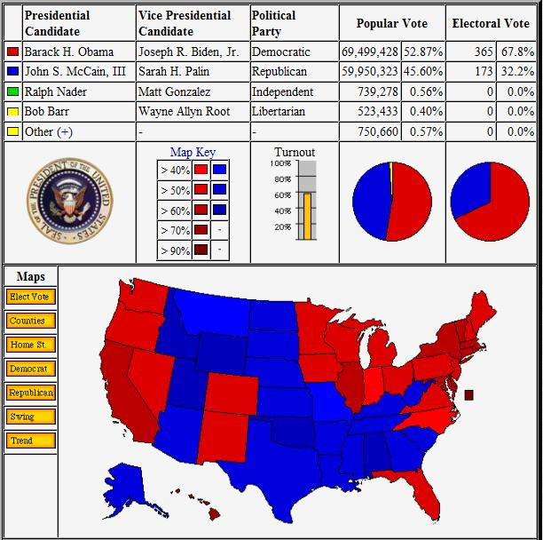 2012 Presidential Election Results As They Come In (1/2)
