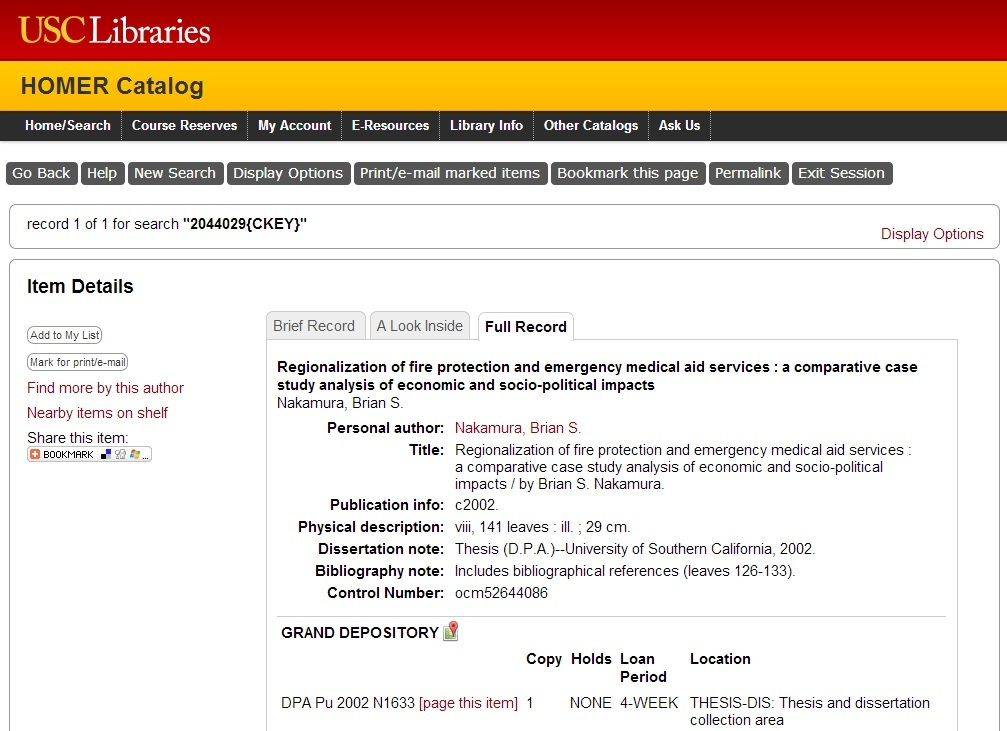 Dissertation Abstracts Online Libraries
