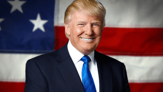 Image result for president trump in front of flag