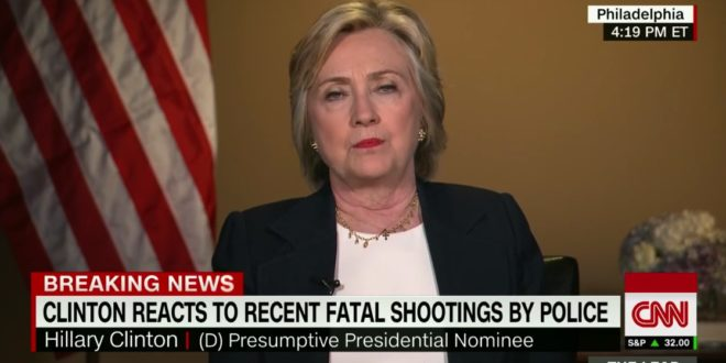Hillary: I Will Call For White People Like Myself To Put Ourselves In Black People's Shoes (Video)