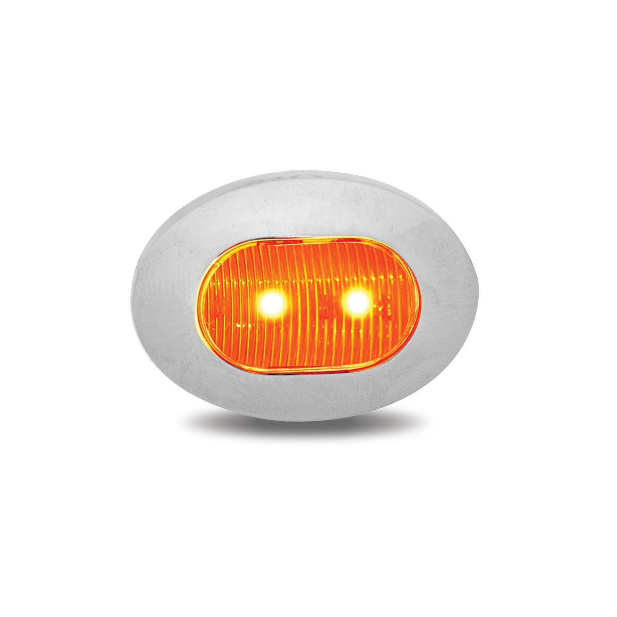Amber Led Amber Mini Oval Led Marker Light 3 Diodes