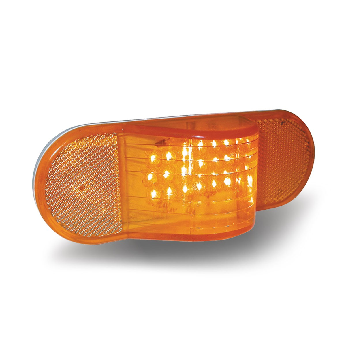 Amber Led Oval Hump Turn Signal And Marker Led Amber 18 Diodes