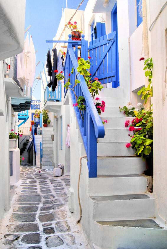 Greek Village Scene 3d Wallpaper White ί ά ό ό ά ή