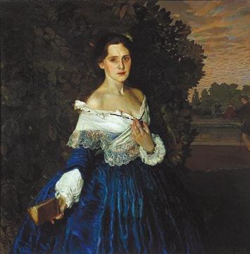 Константин Сомов. Дама в голубом (1897–1900). Государственная Третьяковская галерея
