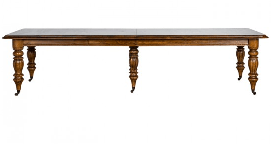 Billiard Oak Dining Table indiajane