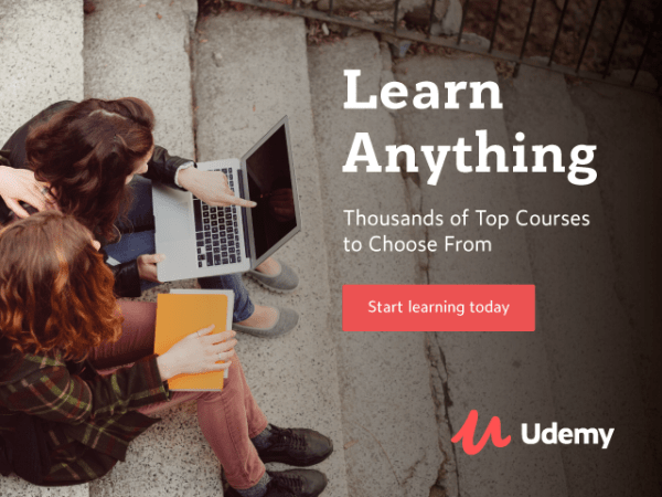 Exceptional instructors and courses sale udemy