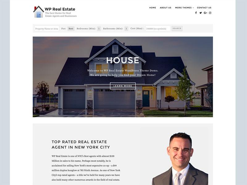 Best Free Real Estate WordPress Themes 2019 - EnvoThemes