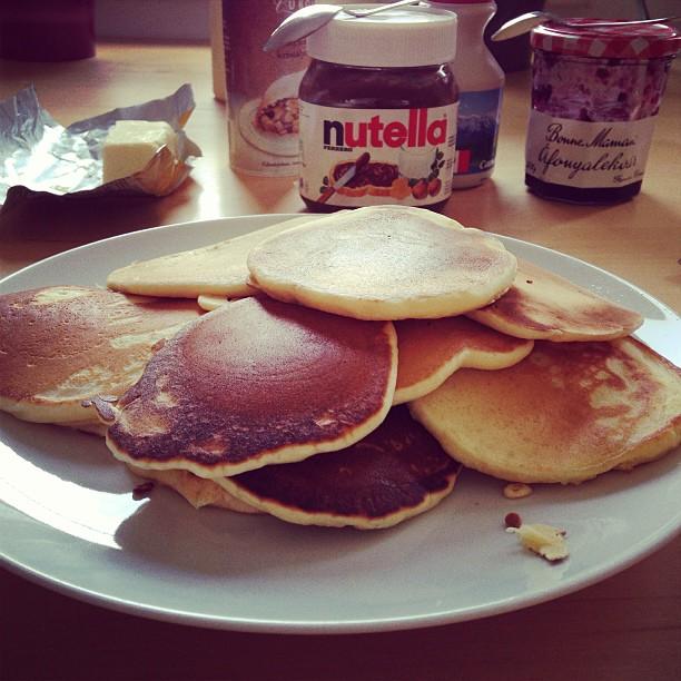 Breakfast - real #pancakes :)