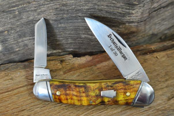 S&M 43 1/2 Half Whittler Golden Spalted Maple