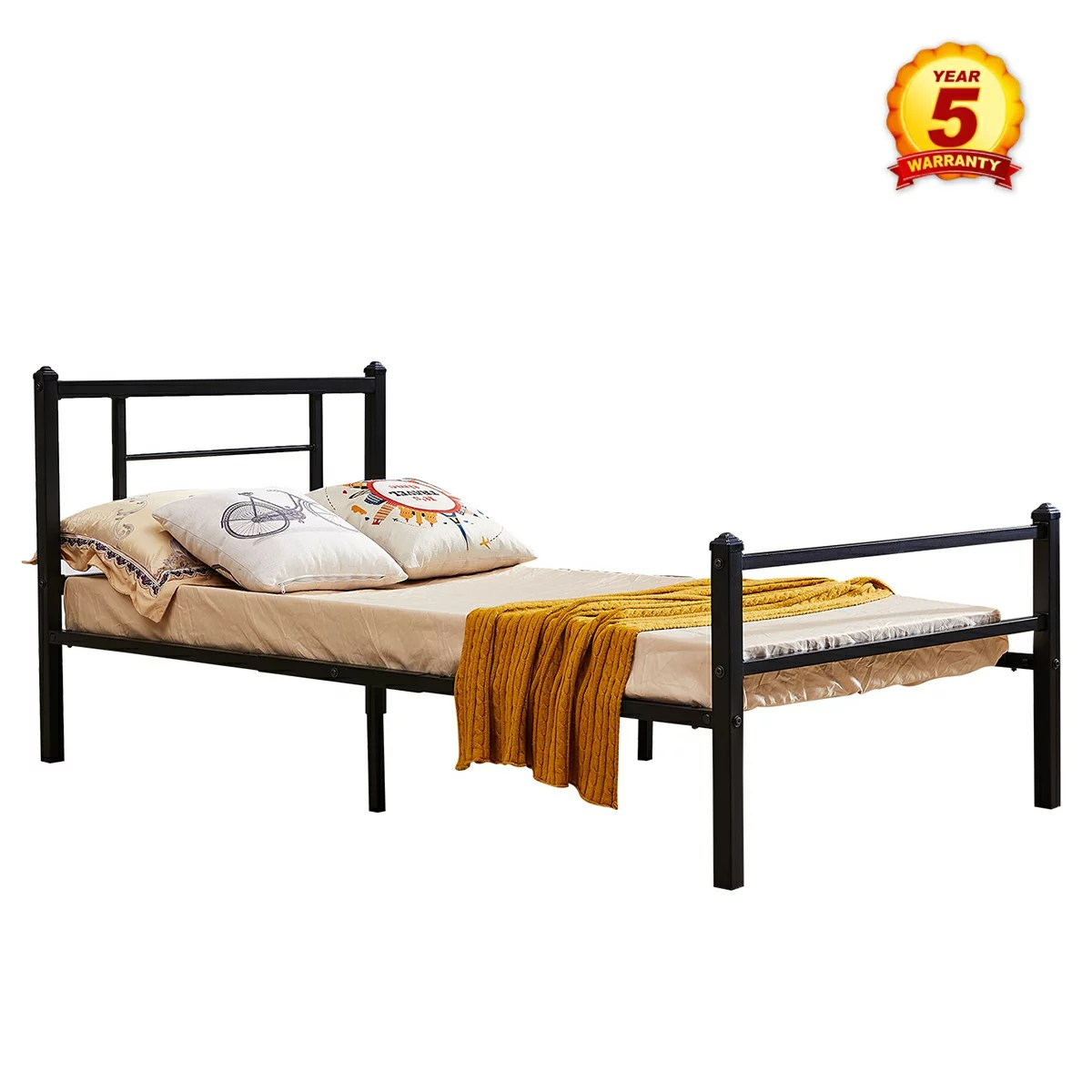 Metal Bed Headboards Mcombo Metal Bed Frame With Headboard And Footboard Xl Twin Size Black