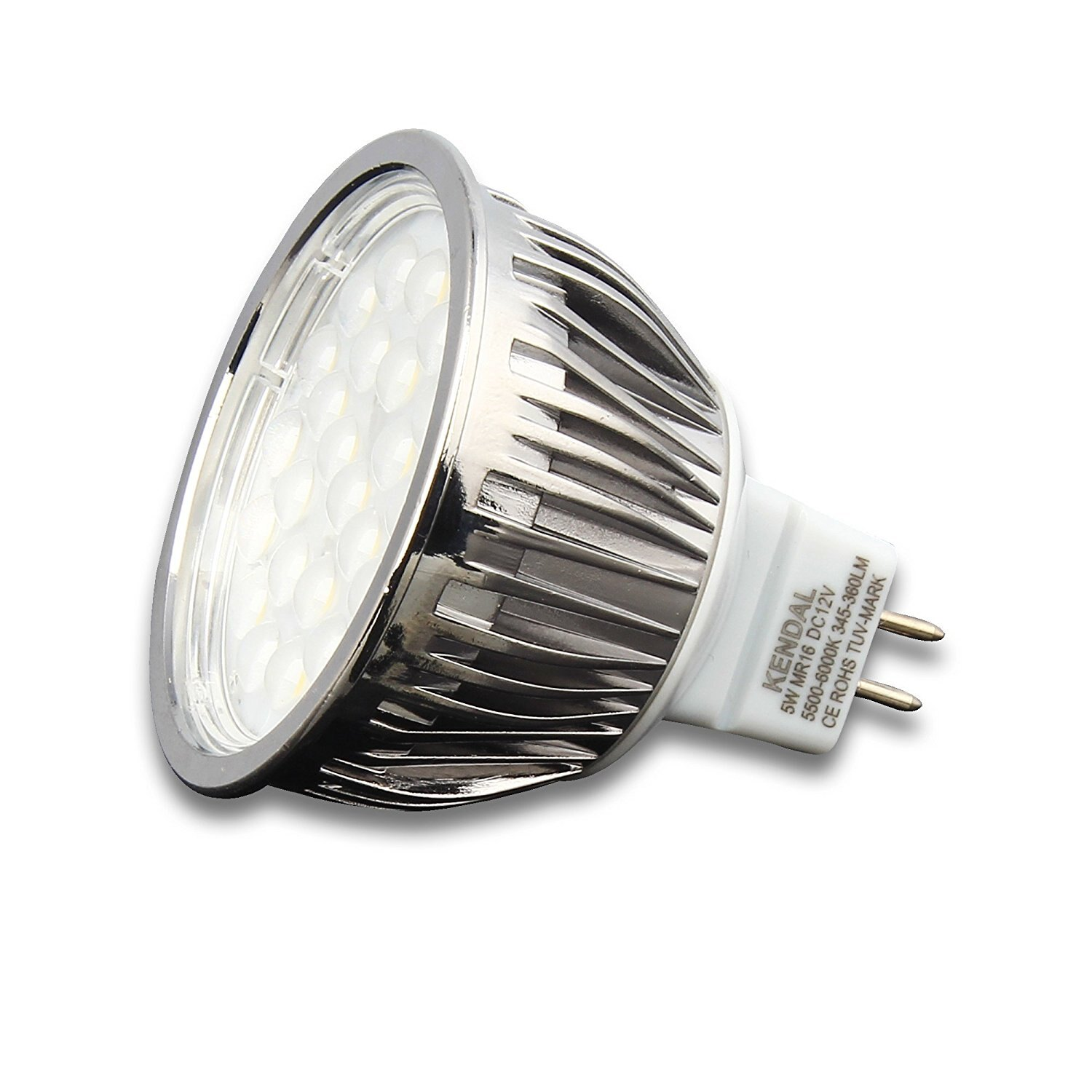 5 Watt Led Kendal Mr16 Led 5 Watt 40 Watt Replacement 5500 6000k Cri90 490lm Led Light Bulb Ul Listed And Fcc Approved Mr16 5w