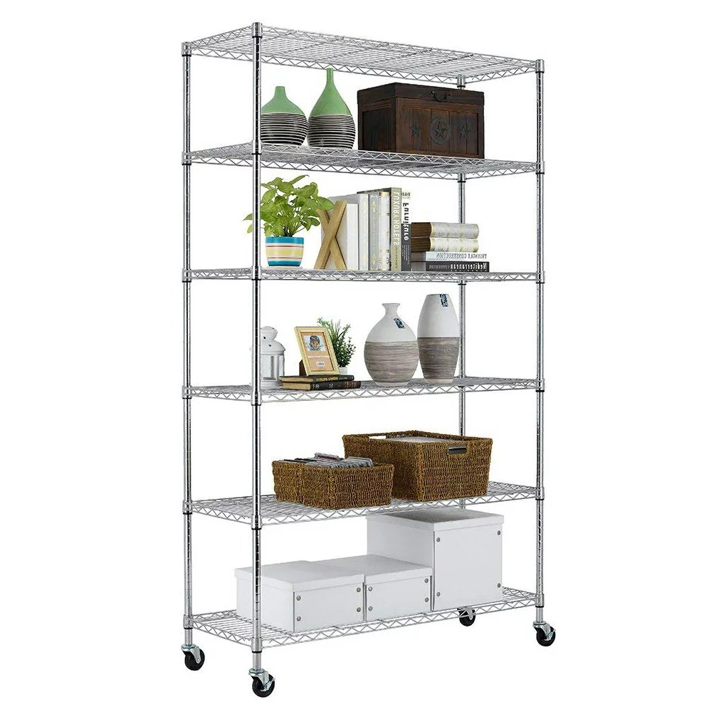 Metal Shelving Bestoffice 6 Tier Wire Shelving Unit Heavy Duty Height Adjustable Nsf Certification Utility Rolling Steel Commercial Grade With Wheels For Kitchen