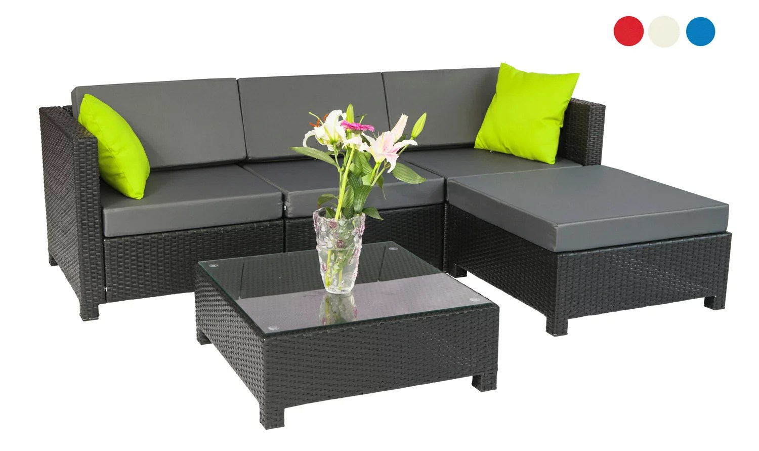 Outdoor Couch Mcombo 5pc Luxury Wicker Sectional Outdoor Sofa Aluminum Frame Furniture 2 Sets Covers