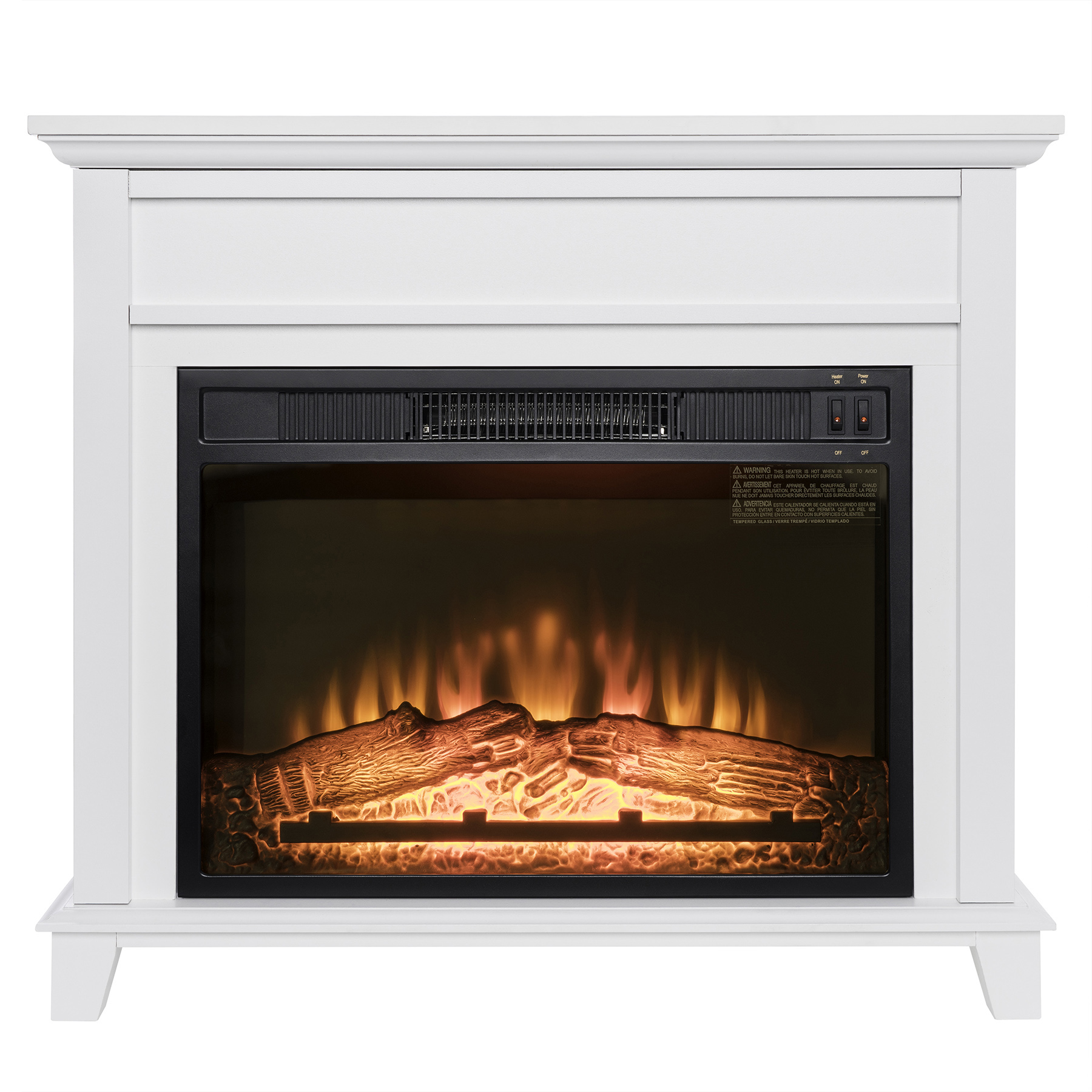 Bedroom Fireplace Heater Akdy Akdy 32 Quot Freestanding White Wooden Mantel Log Bed