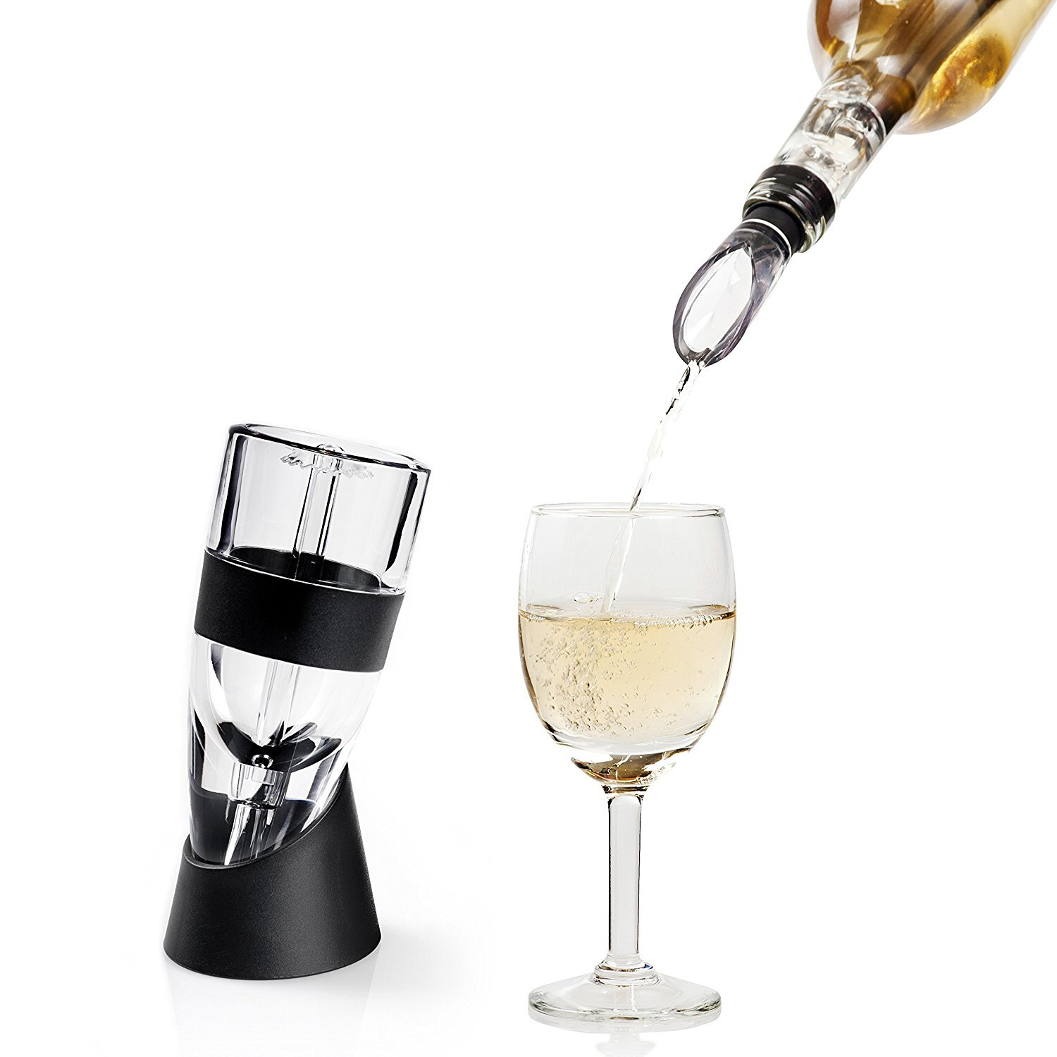 Decanter Wine Glas Secura Premium Wine Aerator Decanter With Wine Pouring Spout Chilling Stick
