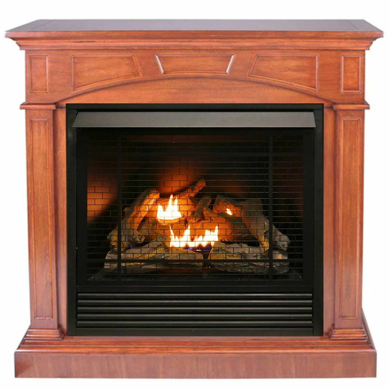 Btu Gas Fireplace Duluth Forge Fdi32r M Hc Dual Fuel Ventless Gas Fireplace 32 000 Btu Remote Control Heritage Cherry Finish
