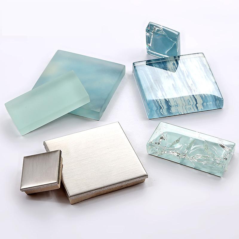 tst glass metal tile blue sky cloud white kitchen bath backsplash silver metal mosaic stainless steel kitchen wall tile backsplash