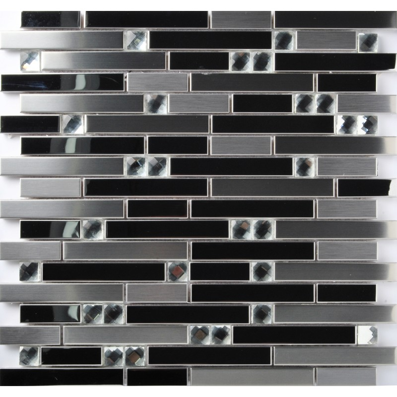 tst stainless steel mosaic tile silver mirrored tiles porcelain base stainless steel kitchen backsplash ideas stainless steel