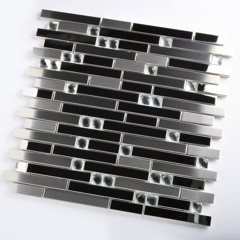 tst stainless steel mosaic tile silver mirrored tiles porcelain base stainless steel subway tile kitchen backsplash painted shaker