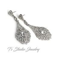 Antique Silver Teardrop Shaped Bridal Chandelier Wedding ...