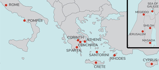 Athens to Rome 2019 Christian Cruise Itinerary with Israel