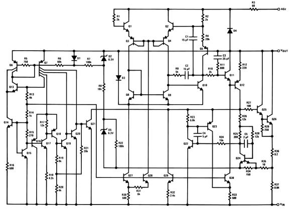 lm317 optical warning circuit diagram