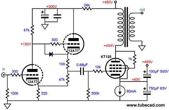 12at7 preamp schematic