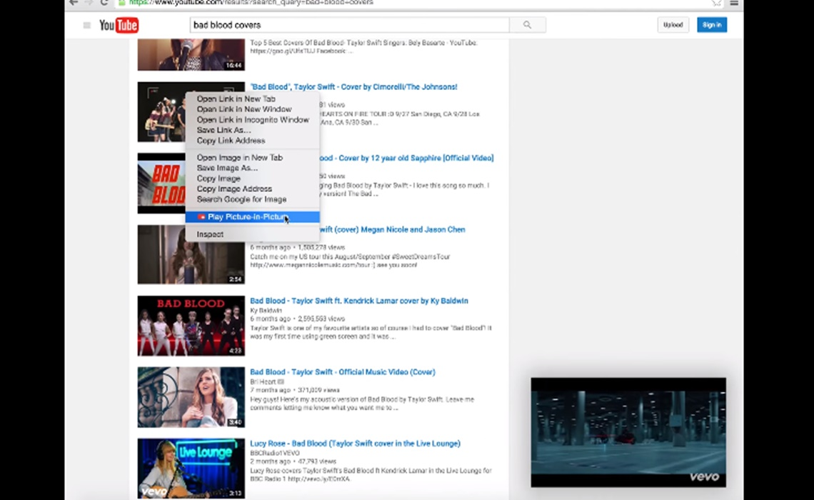 Bad Design Youtube Chrome Extension Brings Youtube App S Picture In Picture Feature