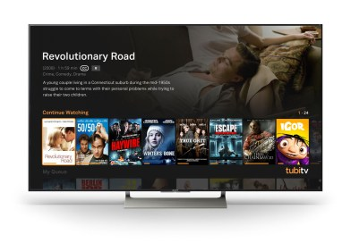 Tubi TV's Free Television and Movie App Added to  Sony Smart TVs and Blu-ray™ Players