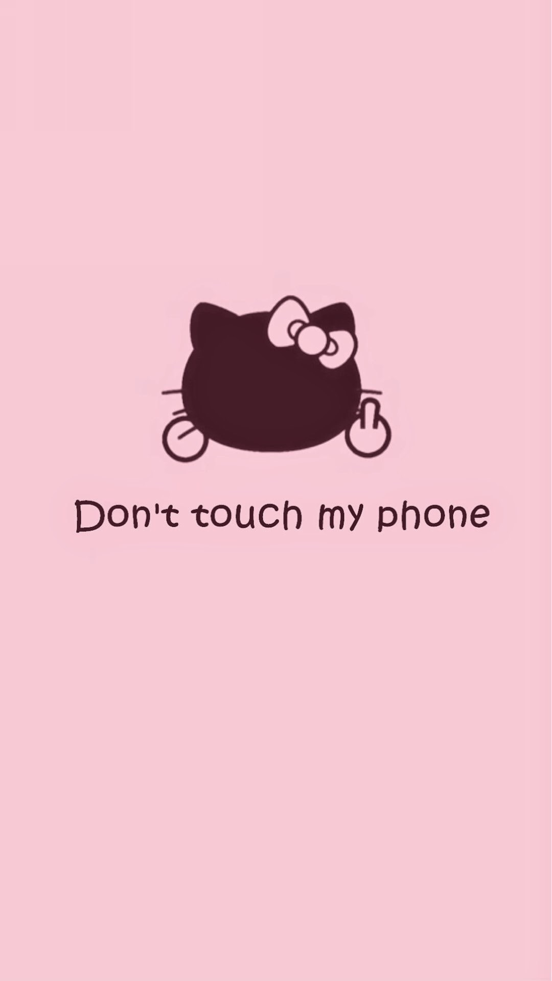 Don T Touch My Phone Wallpaper Girl キティちゃん「don T Touch My Phone」 Iphone壁紙 ただひたすらiphoneの壁紙が集まるサイト