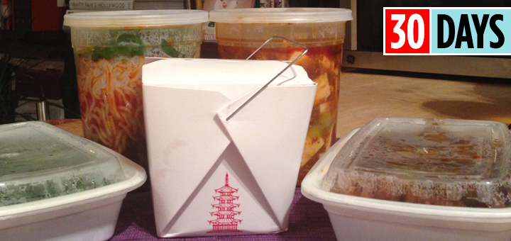 30 Days Resolution Take Out Takeout Amy Choi