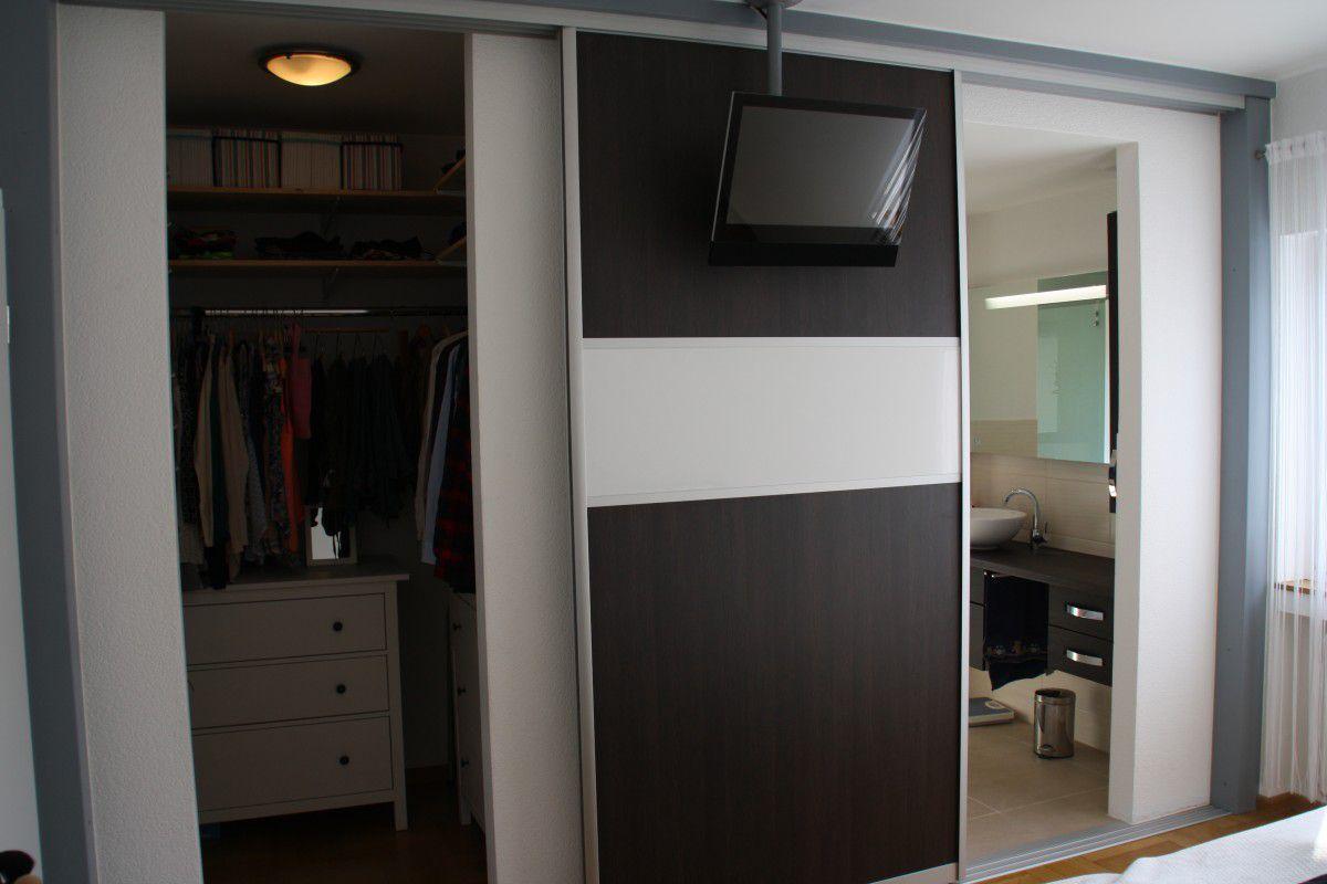Begehbarer Kleiderschrank Schiebetür System Regal Als