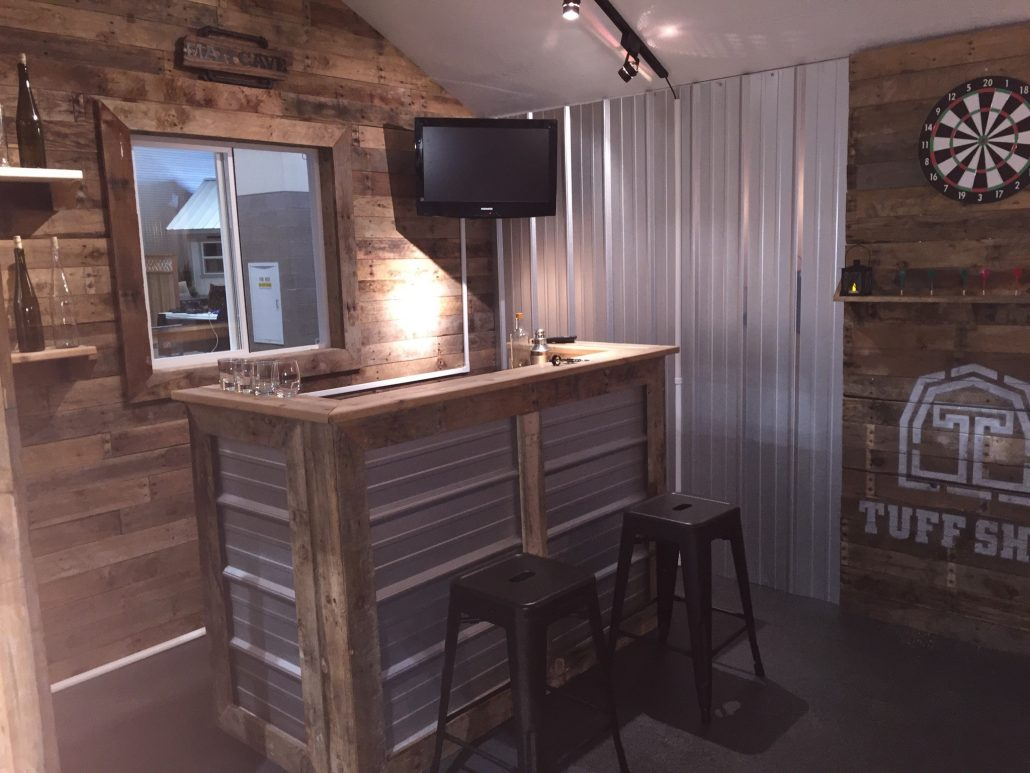 Bar Table And Chairs Design A Man Cave Worthy Of A Grunt - Tuff Shed