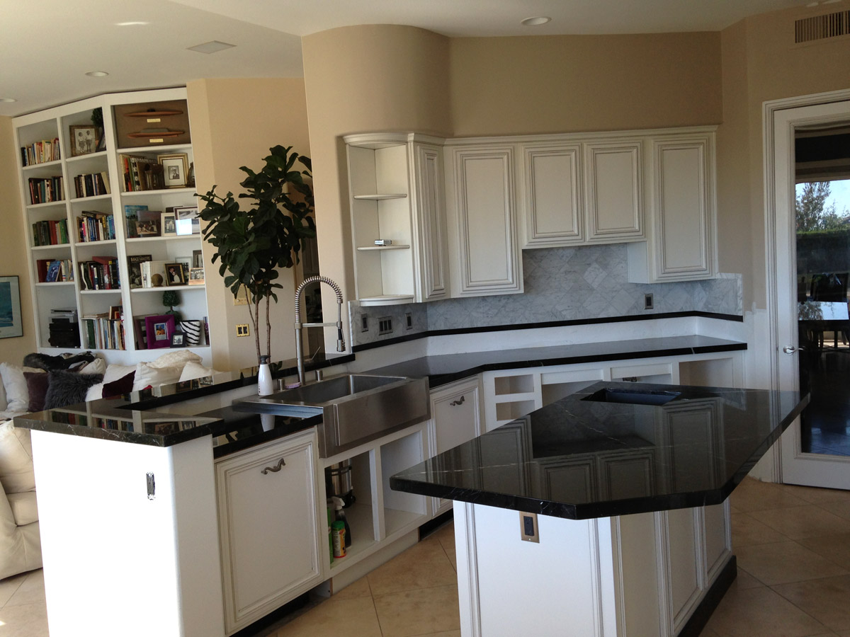 Paul Campbell Kitchen Cabinets Ventura County Black Forest Granite | Take Us For Granite