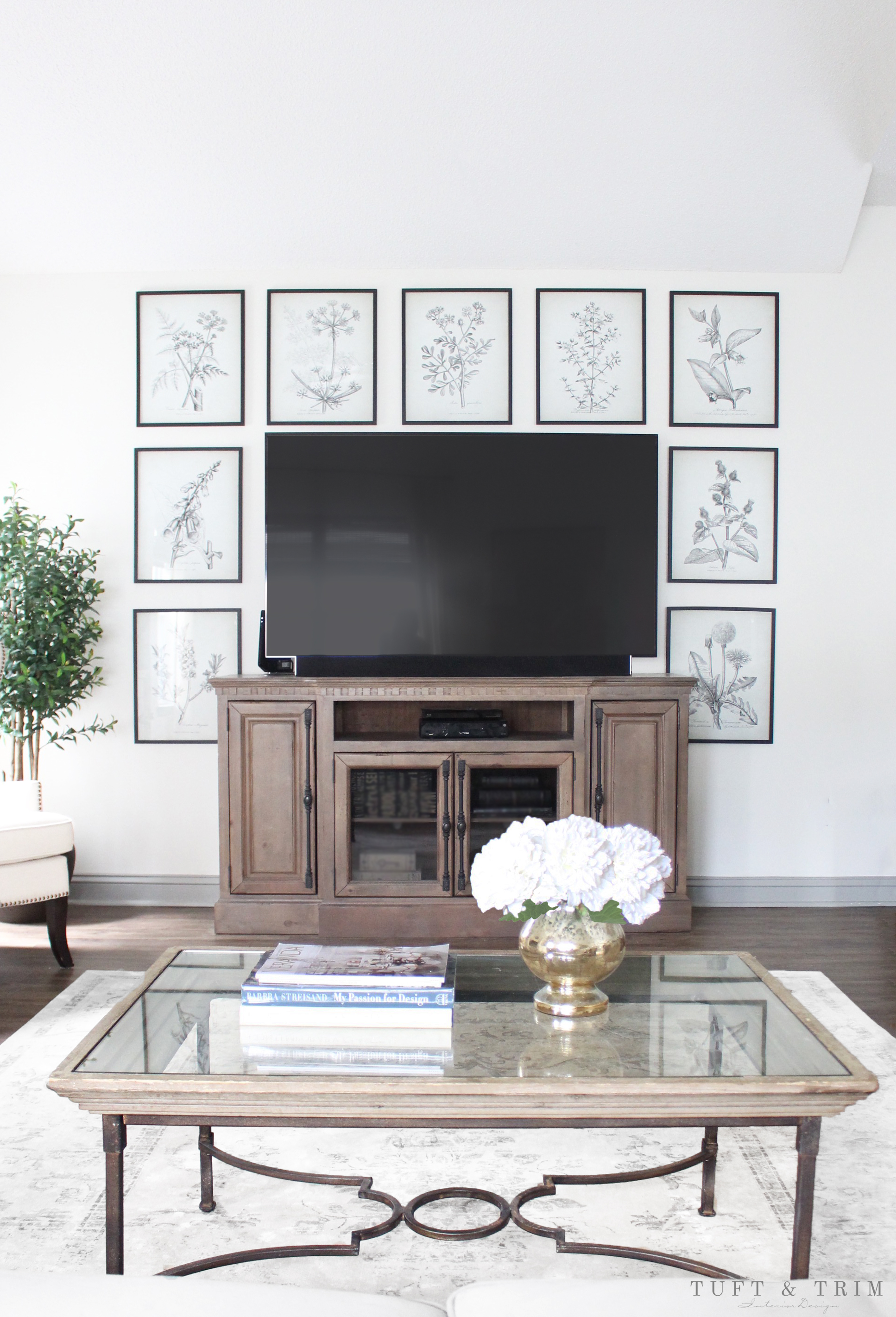Decorate Wall Around Tv 8 Creative Ways To Decorate Around Your Tv Tuft And Trim
