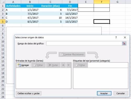 Cómo Crear una Gráfica de Gantt en Excel - diagrama de gantt en excel