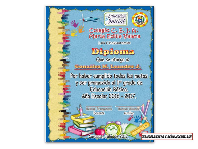 Diplomas de graduación - Para preescolar, 6to grado, bachiller y
