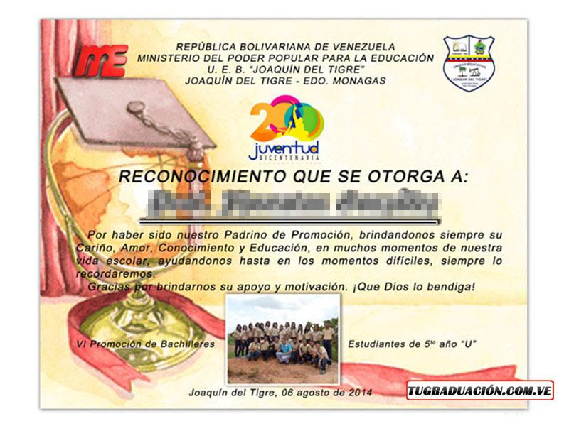 Reconocimientos para graduaciones - Tugraduacionve