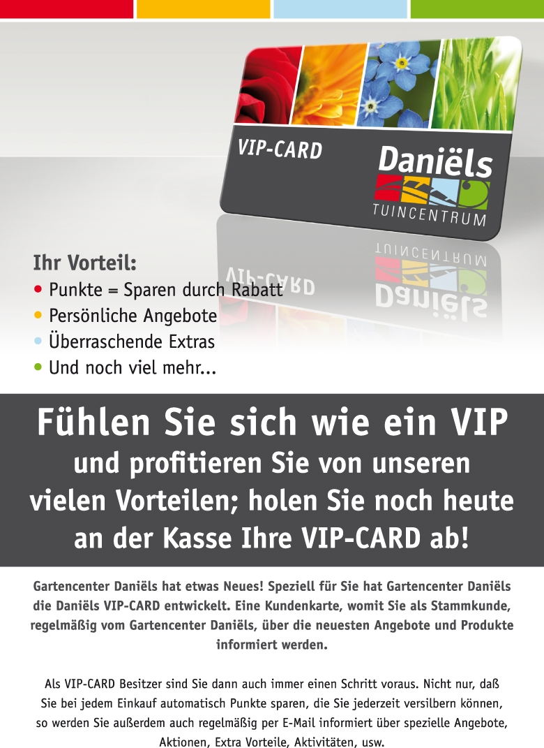 Gartencenter Daniels Vip Card Tuincentrum Daniëls
