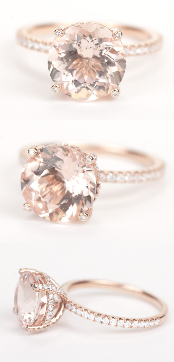 Verlobungsring Alternative 15 Stunning Rose Gold Wedding Engagement Rings That Melt Your Heart | Tulle & Chantilly Wedding Blog