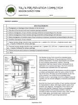 Window Survey Form Image