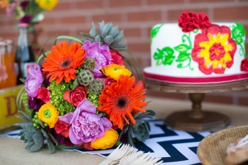 Bouquet & Cake